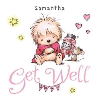 Tlc Hedgehog Personalised Get Well Soon Card