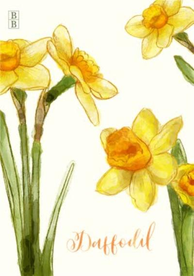 Bright Yellow Daffodil Flowers Personalised Card