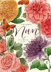 Watercolour Flowers Nan Mothers Day Card