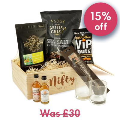 Man Snacks Whisky & Food Hamper Gift Box