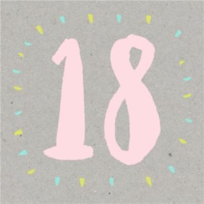 Bright Pink Happy 18Th Birthday Card