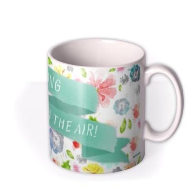 Floral Splash Spring Personalised Mug