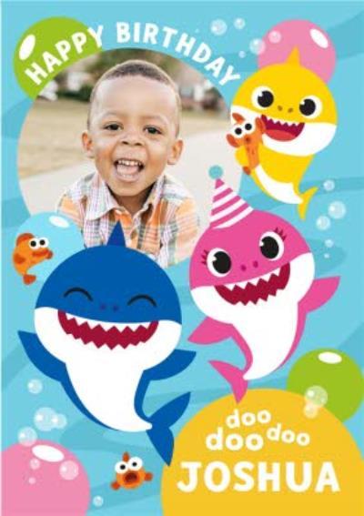 Baby Shark song photo upload kids Birthday card