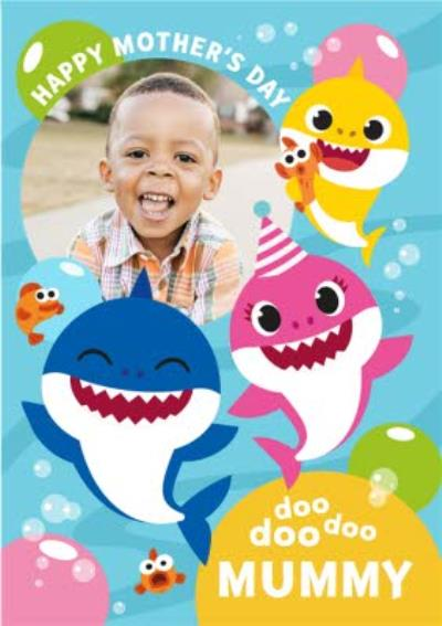 Baby Shark Mother's Day Photo Card