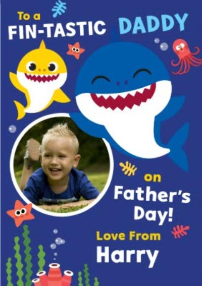 To A Fin-Tastic Daddy On Father's Day Card