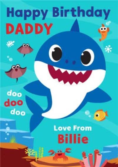 Baby Shark song kids Daddy Birthday card