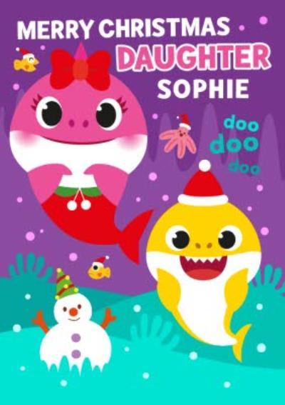 Baby Shark Daughter Christmas card