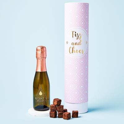 Sparkling Rosé 20cl and Chocolate Truffle Gift Set