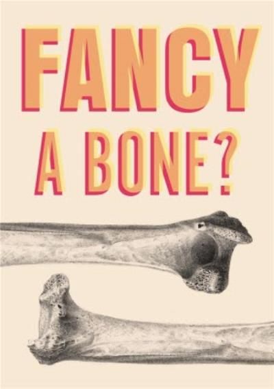 Funny and Rude Fancy A Bone Valentine's Day Card