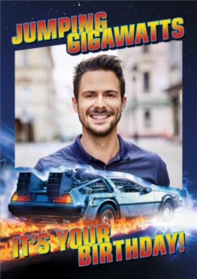 Back to the Future photo upload birthday card