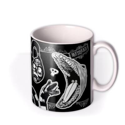 Beetlejuice Characters Before Coffee Funny Mug