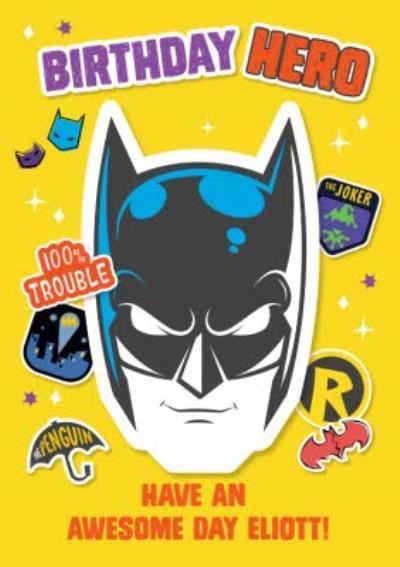Batman Kids Birthday Hero Card