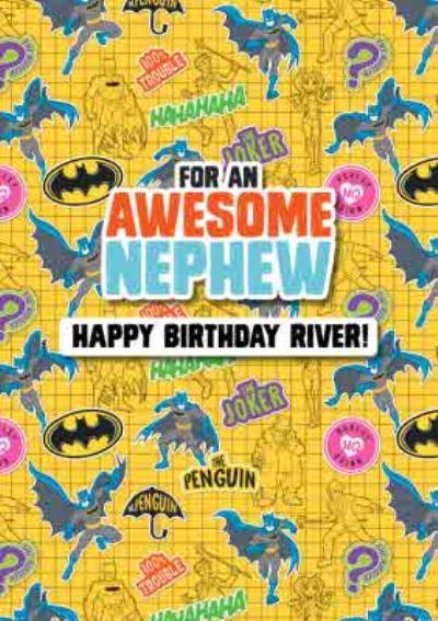 Batman Kids Awesome Nephew Birthday Card