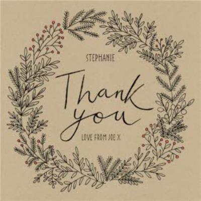 Botany Thank You Personalised Card