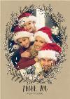 Botany Thank You Christmas Photo Upload Card