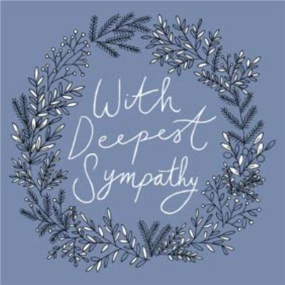Botany With Deepest Sympathy Card