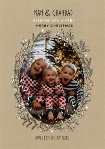 To Grandparents Scandi Drawing Photo Upload Christmas Card