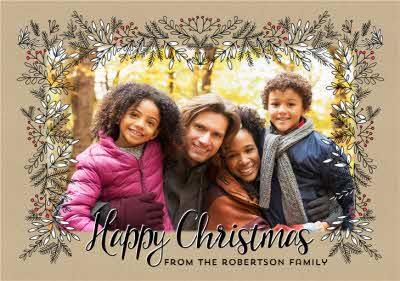 Photo Upload Christmas Card From The Family