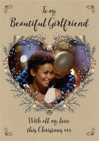 Photo Upload Christmas Card To My Beautiful Girlfriend