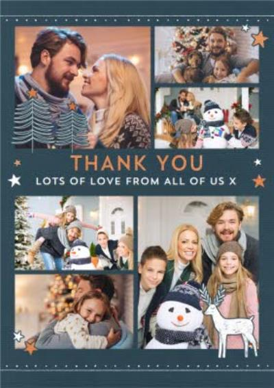 Christmas Thank You Photo Upload Card