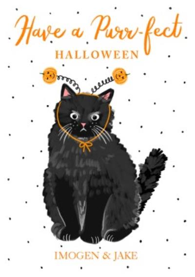 Boo To You Purr-fect Halloween Card