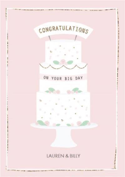 Congratulations On Your Big Day Wedding Card