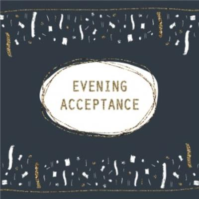 Metallic Confetti Evening Acceptance Party Card