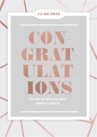 Wedding Card - Wedding Day - Congratulations