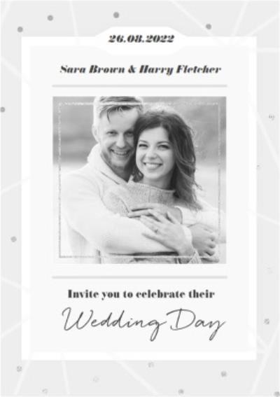 Wedding Invitation Photo Upload Card