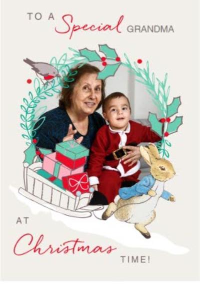 Peter Rabbit Special Grandma Photo Upload Card