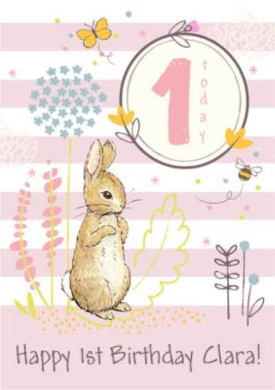 Peter Rabbit 1st Birthday Card