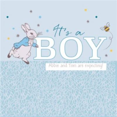 Peter Rabbit Gender Reveal It's A Boy Card
