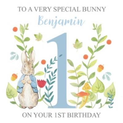 Peter Rabbit Special Bunny 1st Birthday Card