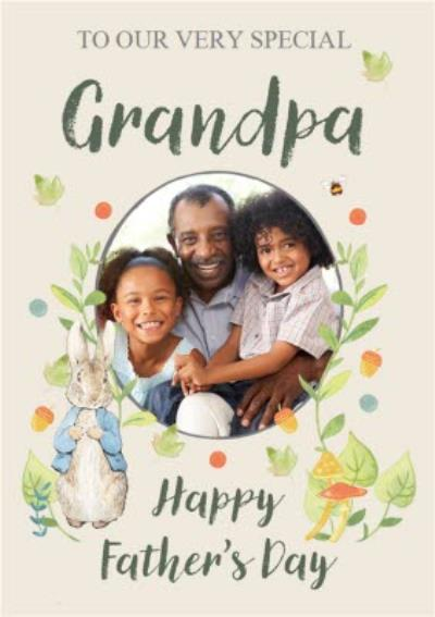 Peter Rabbit To Our Very Special Grandpa Photo Upload Father's Day Card