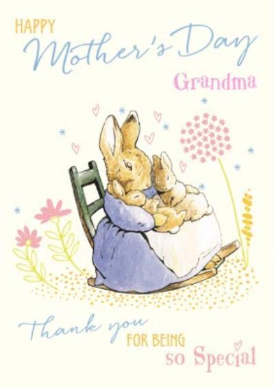 Peter Rabbit Happy Mothers Day Grandma Card