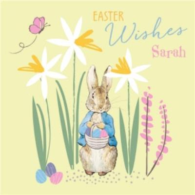 Peter Rabbit Easter Wishes Personalised Card