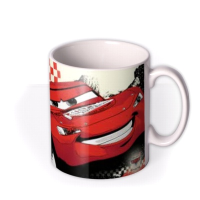 PERSONALISED MUG LIGHTNING McQUEEN NEW CARS ANY NAME