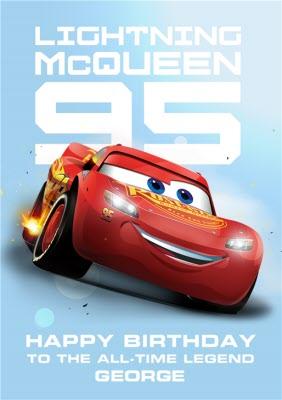 Cars Lighting Mcqueen Personalised Birthday Card