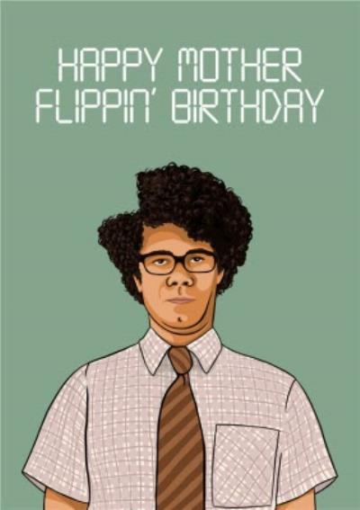 Happy Mother Flippin Birthday Funny Tv Card