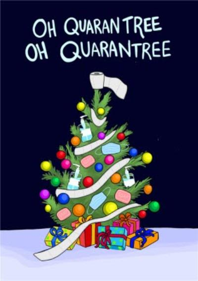 Oh Quarantree Pun Christmas Card