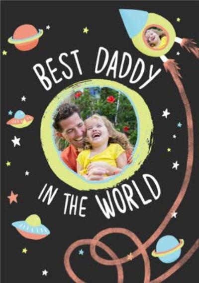 Best Daddy In The World Photo Upload Card