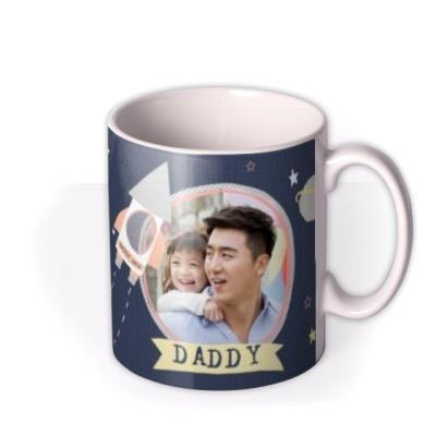 Daddy Love You To The Moon & Back Photo Upload Father's Day Mug