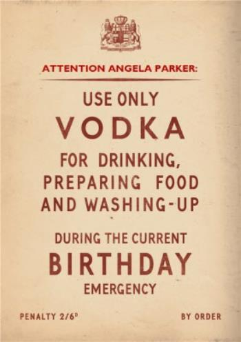 Sensational Personalised Name Use Vodka Only For The Following Occasions Funny Birthday Cards Online Sheoxdamsfinfo
