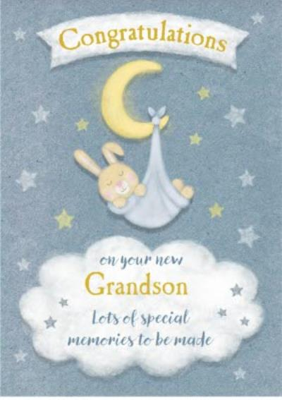 New Grandson Congratulations Postcard
