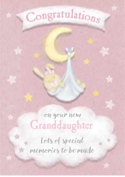 New Granddaughter Congratulations Postcard