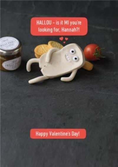 Hilarious Halloumi Cheese Pun Card