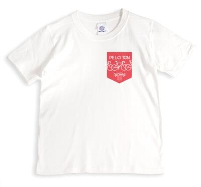 Peloton Cycling Club White And Red T-Shirt