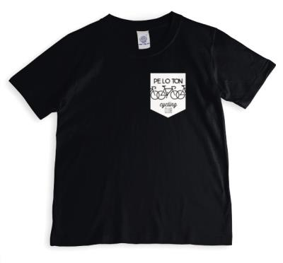 Peloton Cycling Club Black And White T-Shirt