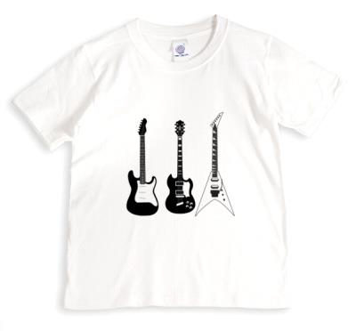 Three Electric Black And White Guitars T-Shirt