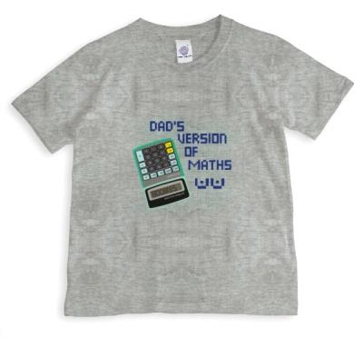 Dad's Version Of Maths Boobies Grey T-Shirt